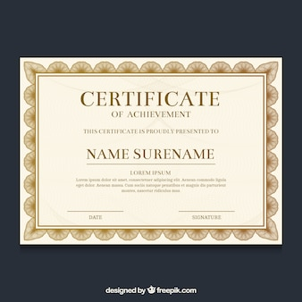 Ornamental certificate border