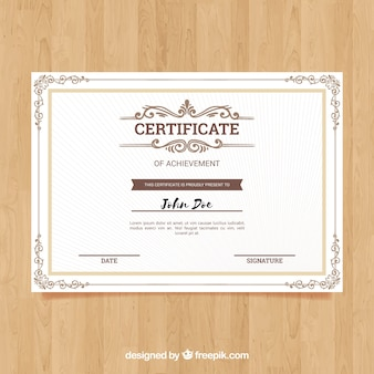 Ornamental certificate border