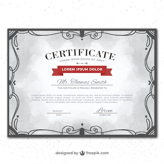 Ornamental certificate of excellence