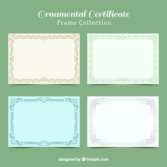 Ornamental certificate frame collection