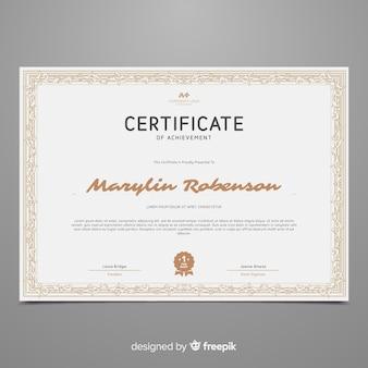 Шаблон декоративного сертификата в винтажном стиле