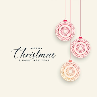 Ornamental chrismtas ball decoration background