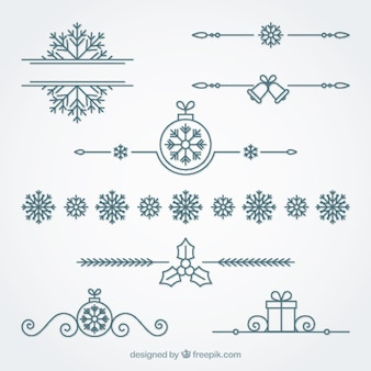 Ornamental christmas border set