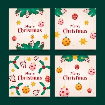 장식용 크리스마스 카드 컬렉션