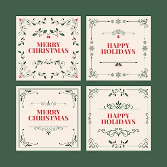 Ornamental christmas cards collection
