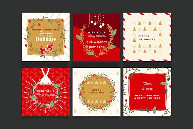 装飾用のクリスマスカードコレクション