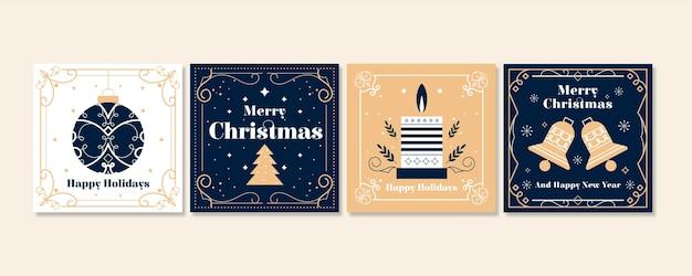 Коллекция декоративных рождественских открыток