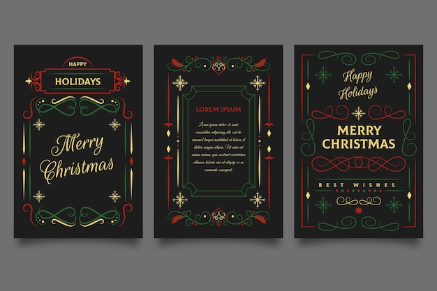 Ornamental christmas cards template