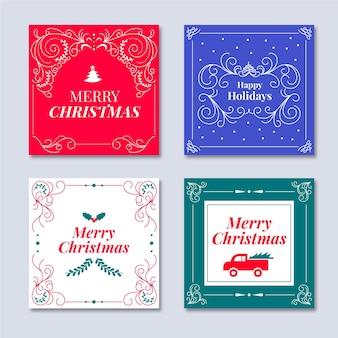 Ornamental christmas cards