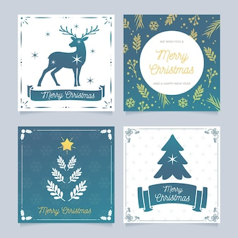 Ornamental christmas cards