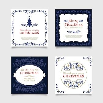 Cartoline di natale ornamentali