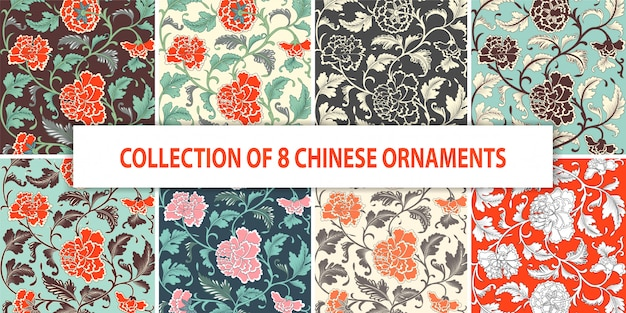 Ornamental colored floral hand drawn pattern.