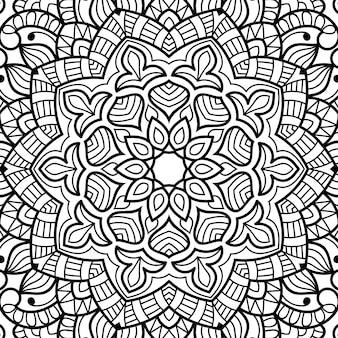 Ornamental colouring book page