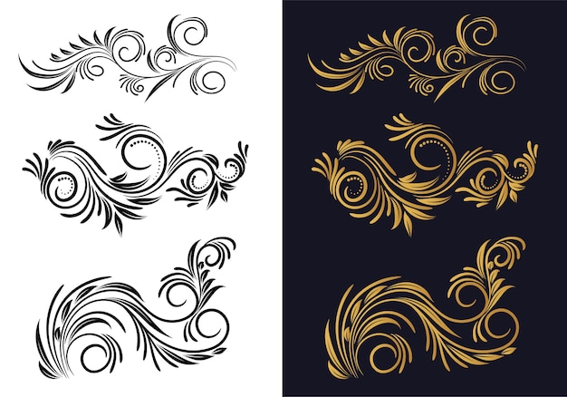 Ornamental creative floral decorative set design