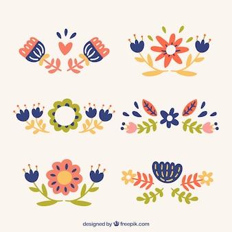 Ornamental cute floral pack