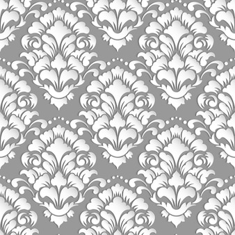 Ornamental damask seamless pattern