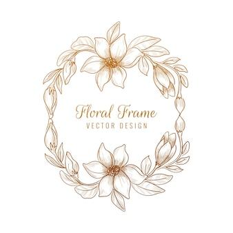 Декоративная декоративная цветочная рамка