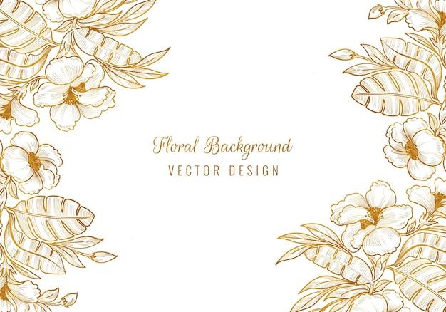 装飾的な装飾的な花のフレームデザイン