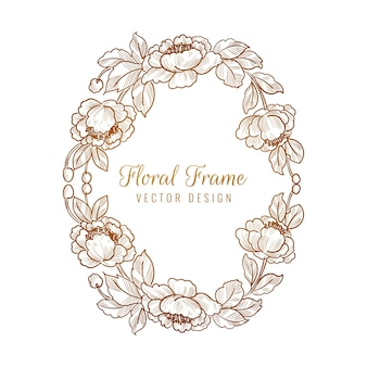 Ornamental decorative floral frame