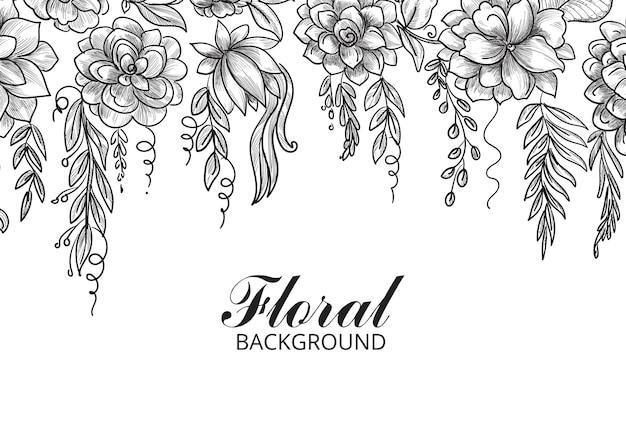 Ornamental decorative floral sketch