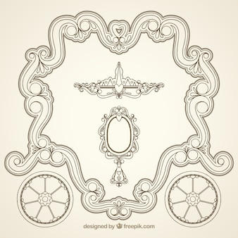 Ornamental decorative frame
