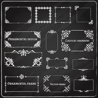 Ornamental design corners set