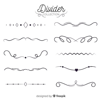 Ornamental divider hand drawn collection