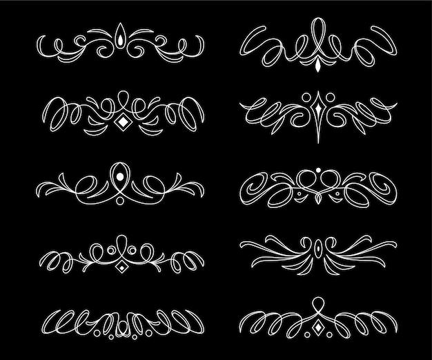 Divisori ornamentali e cornici per la decorazione di documenti
