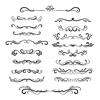 Ornamental dividers and swirls