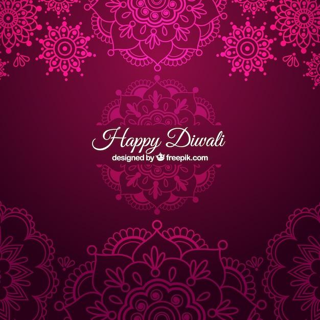 Free Ornamental Diwali Background In Pink Color Vector High Quality Download Svg Vector Download Svg Converter