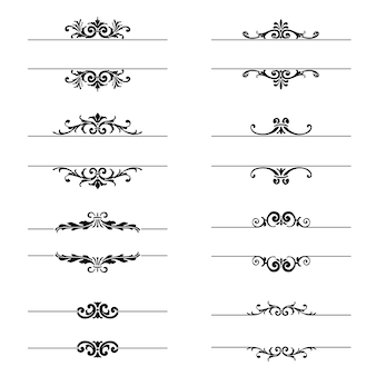 Ornate vectors photos and psd files free download ornamental elements collection stopboris
