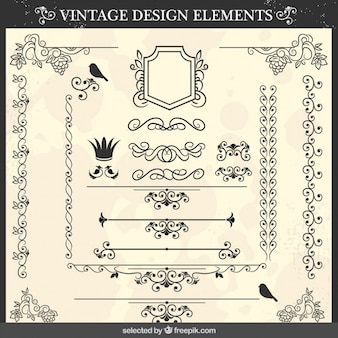 Ornamental elements with birds