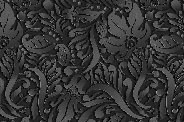 Ornamental floral abstract background