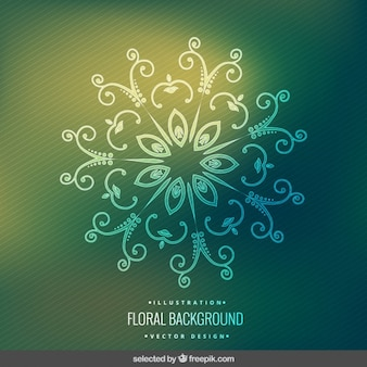 Декоративные цветочные фон с полосами