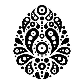 Ornamental floral decorative easter egg