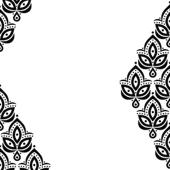 テキスト用のスペースを持つヴィンテージの踏み越し段のデザインの装飾用花の要素パターンの背景