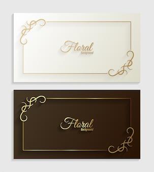 Декоративная цветочная рамка декоративный дизайн