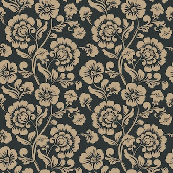 Ornamental floral seamless pattern