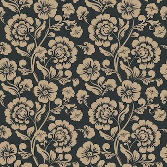 観賞用の花のシームレスなパターン