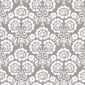 Ornamental floral seamless pattern