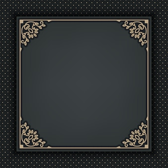 Ornamental frame on dark gray