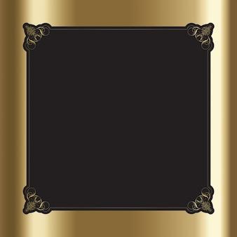 Ornamental frame on a golden background