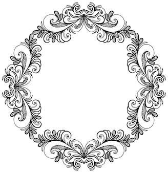 Ornamental frame, hand drawing