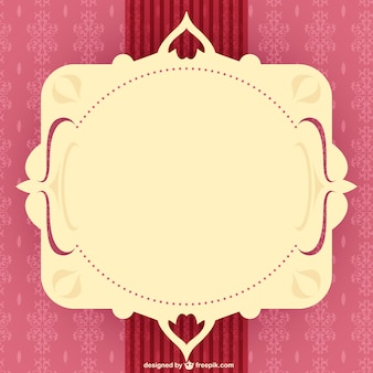Ornamental frame in red and pink tones