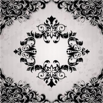Ornamental frame on paper background