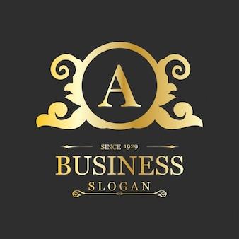花の背景ビジネスのロゴ