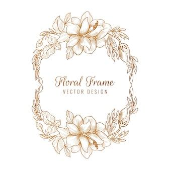 観賞用の黄金の装飾花のフレーム