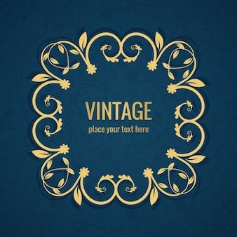 Vintage sfondo cornice floreale