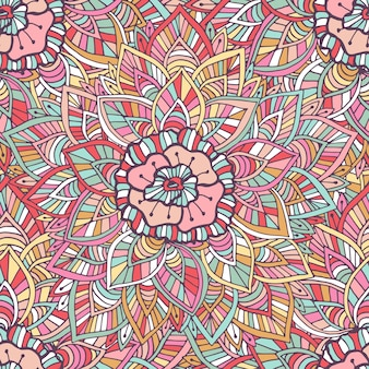 장식용 인도 패턴입니다. 벡터 boho 텍스처입니다. 포장지, 포장 디자인 및 장식 그림