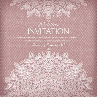 Ornamental invitation silver and pastel colors